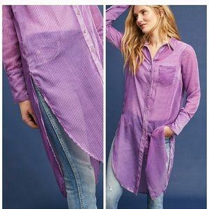 Akemi + Kin • Sheer Velvet Button Up Tunic